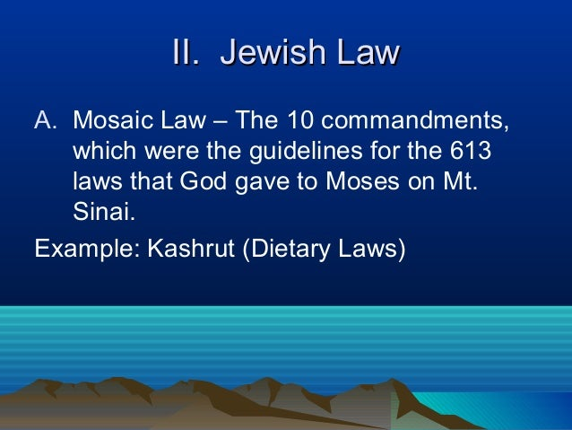 mosaic dietary laws