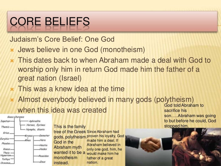jewish beliefs Brief overview of judaism featuring mr cole anderson (our judaism expert).