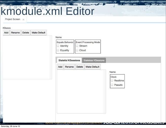 kmodule.xml Editor Saturday, 29 June 13