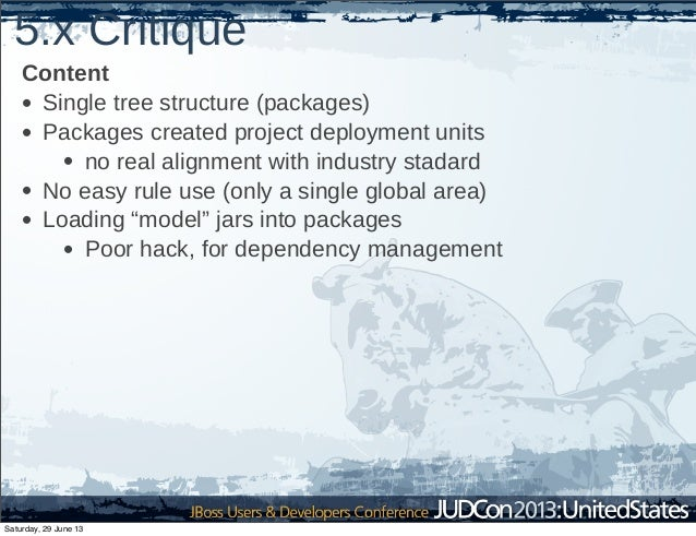 5.x Critique Content • Single tree structure (packages) • Packages created project deployment units • no real alignment wi...