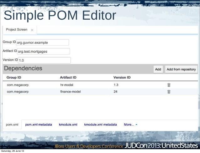 Simple POM Editor Saturday, 29 June 13