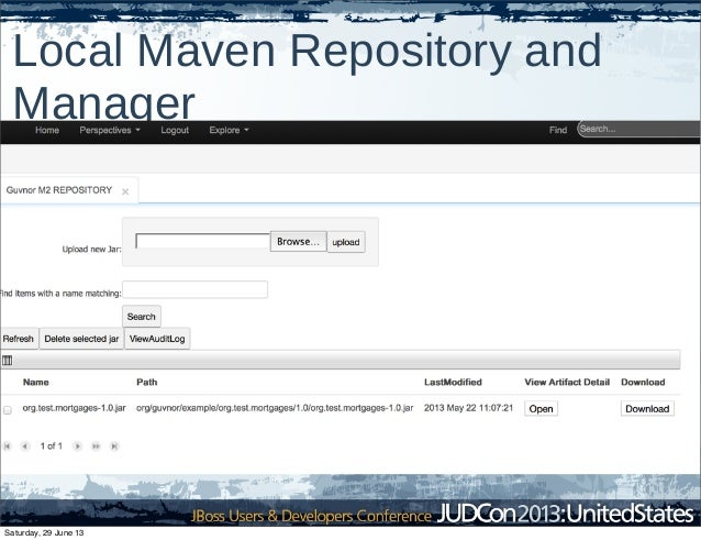 Local Maven Repository and Manager Saturday, 29 June 13