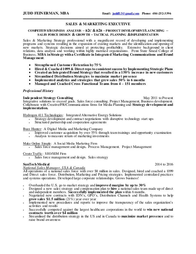 Judd Feinerman\'s Resume 2016