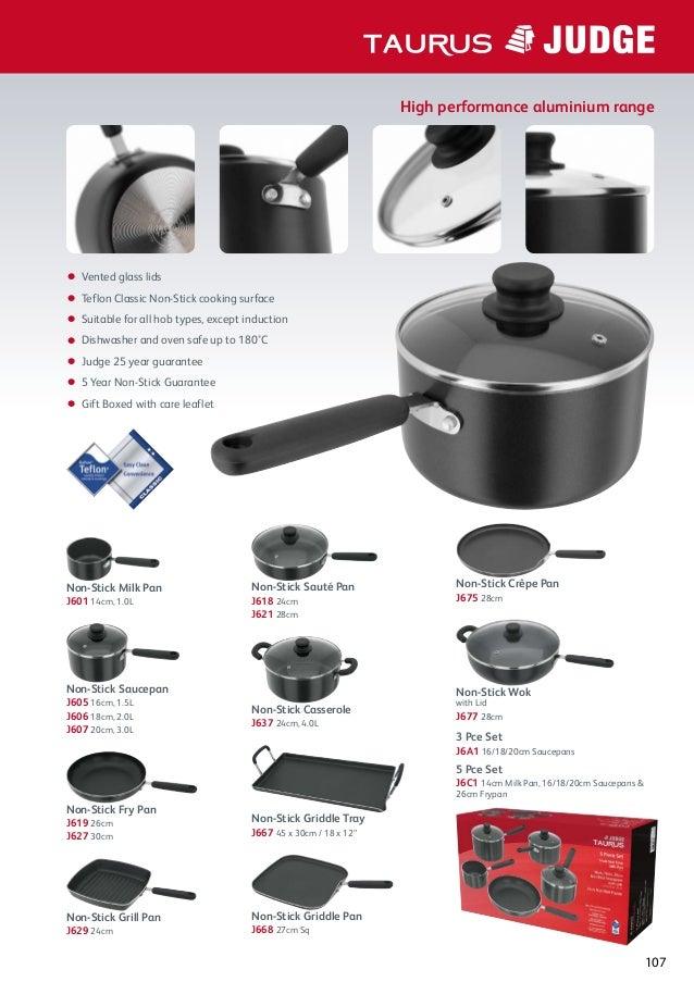 /J305E Judge Vista/ /Draining Non-Stick 16/cm Saucepan and Lid/