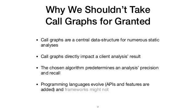 Judge: Identifying, Understanding, and Evaluating Sources of Unsoundness in Call Graphs Slide 2