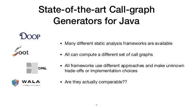Judge: Identifying, Understanding, and Evaluating Sources of Unsoundness in Call Graphs Slide 3