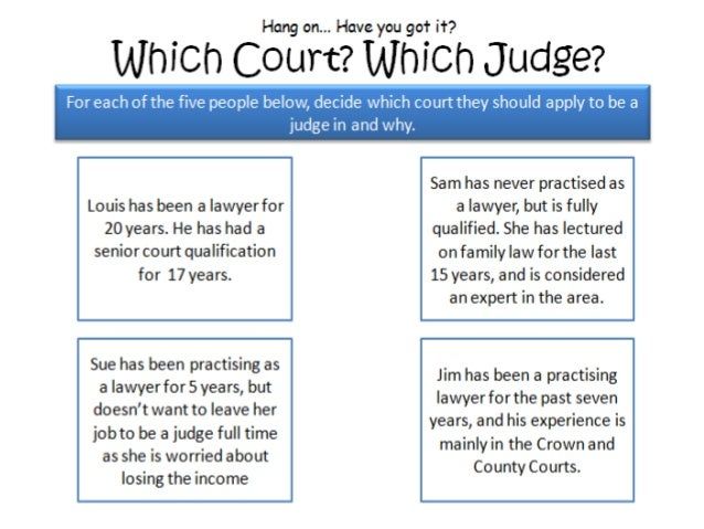 What are the duties of a judge?