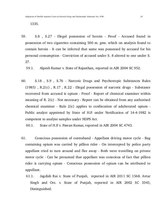 Judgments of supreme court of india on narcotic drugs and psychotropi 23 spiritdancerdesigns Images