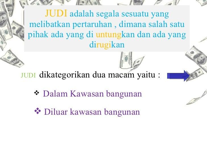 Judi Adalah Penyakit Utama TKI Di Malaysia slideshare - 웹