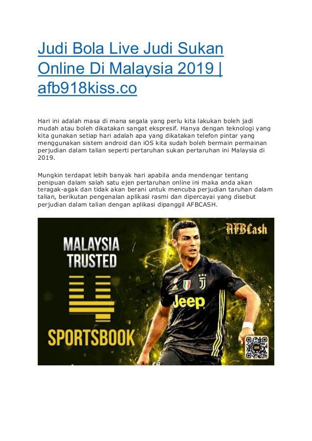 Judi Bola Live Judi Sukan Online Di Malaysia 2019 Afb918kiss Co