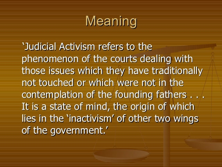 an introduction to judicial activism in the united states New forms of judicial review and the persistence embedded in a majority's will1 the other was the united states proponents of judicial activism argued in.