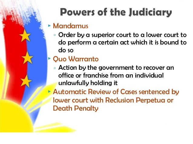 judicial department of the philippines Full text of the 1943 constitution of the republic of the philippines  article viii judicial department.