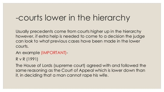 explain judicial precedent and the types Besides arguing from favorable precedent, you need to explain why bad court decisions which might appear to apply to your situation should not determine the decision in your case show how the facts in your case are different from the facts in the bad case.