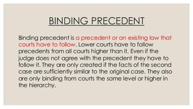 define binding precedent