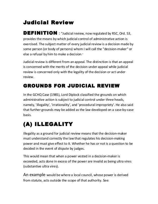 Judicial review grounds essay help