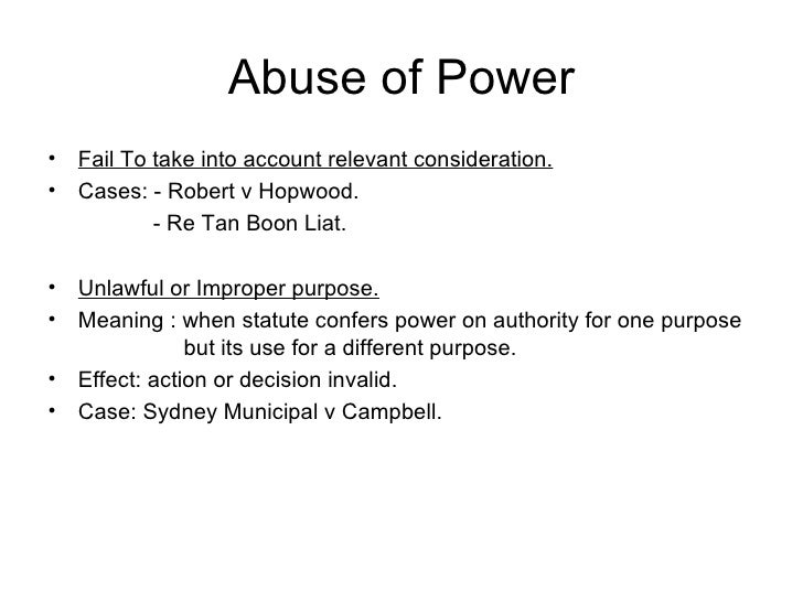 abuse of power and the effect Advocates of such post-experiment power calculations claim the calculations should be used to aid in the interpretation of the experimental the abuse of power.