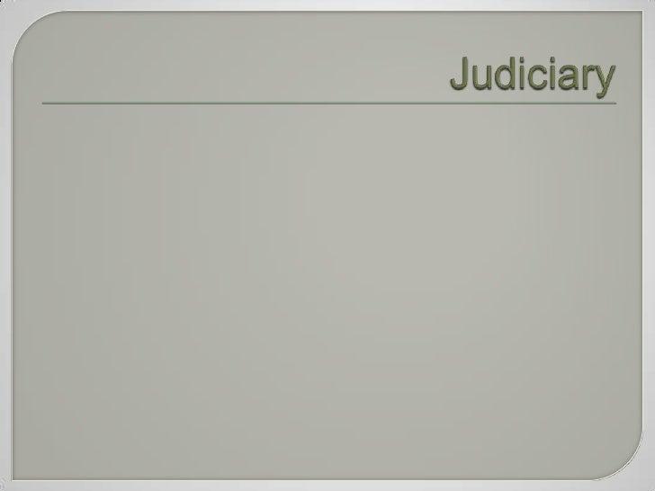 Judiciary<br />