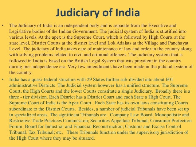 Legal system in india essay for kids