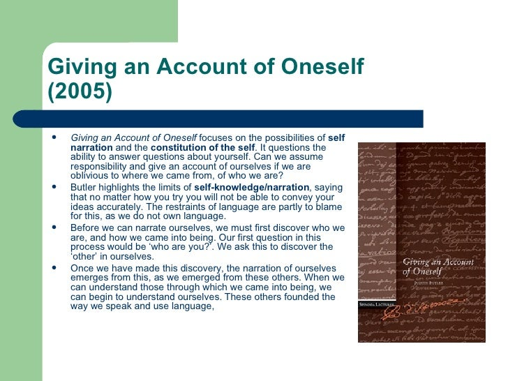 give an account of