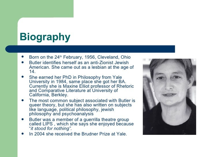judith butler influenced by