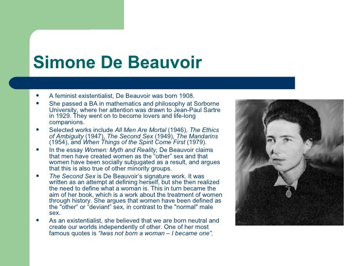 simone de beauvoir myth and reality pdf
