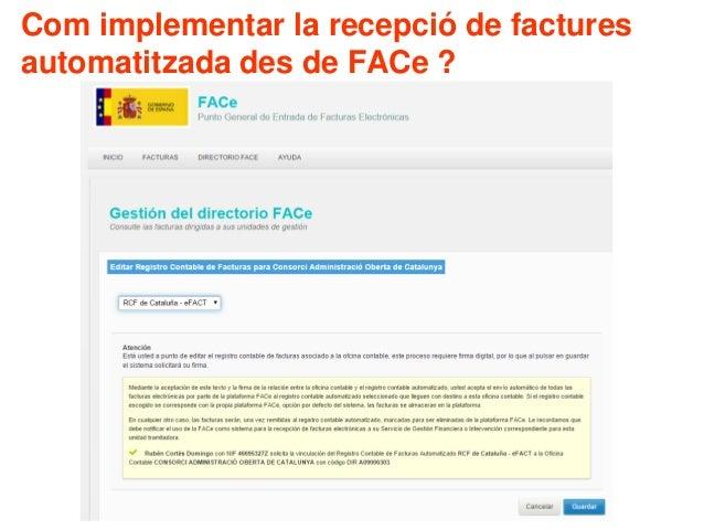 Com implementar la recepció de factures automatitzada des de FACe ?