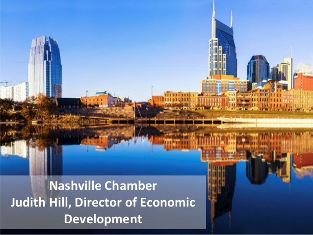 Nashville Chamber Judith Hill, Director of Economic Development