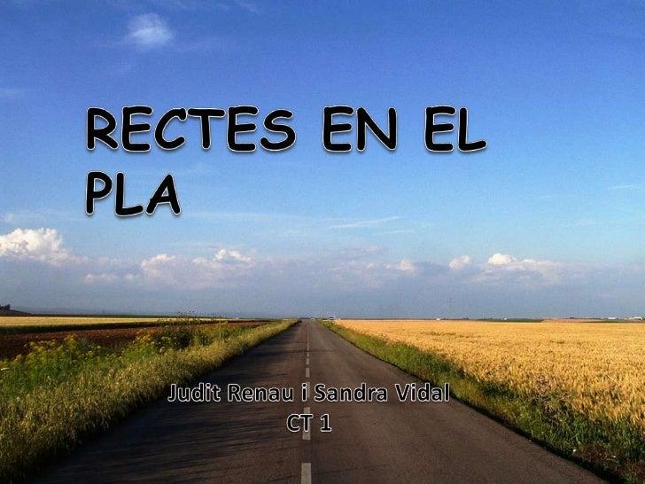 DIFERENTS FORMES D'EXPRESSIÓ DE LA RECTA