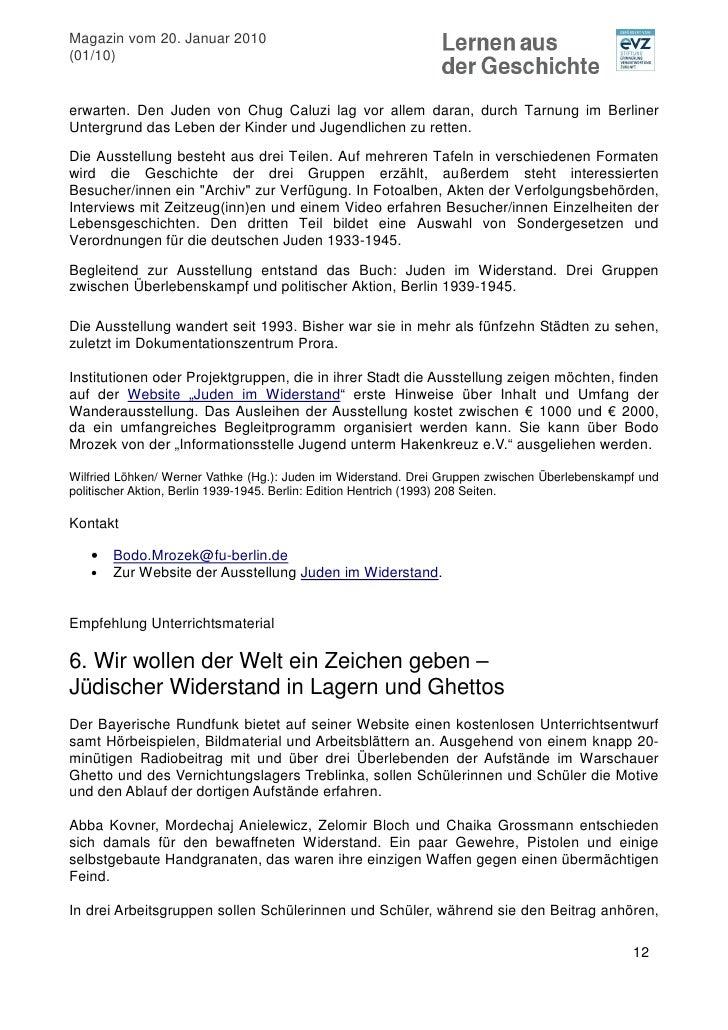 Für das Leben: Jüdischer Widerstand und Partisanen gegen den NS