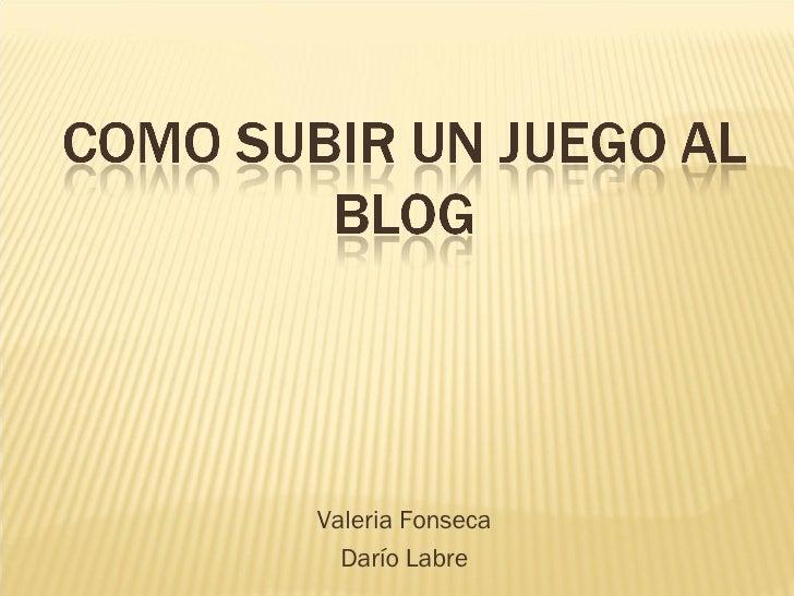 Valeria Fonseca Darío Labre