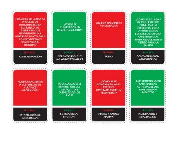 Juego cartas ruleta prae en word (para imprimir)