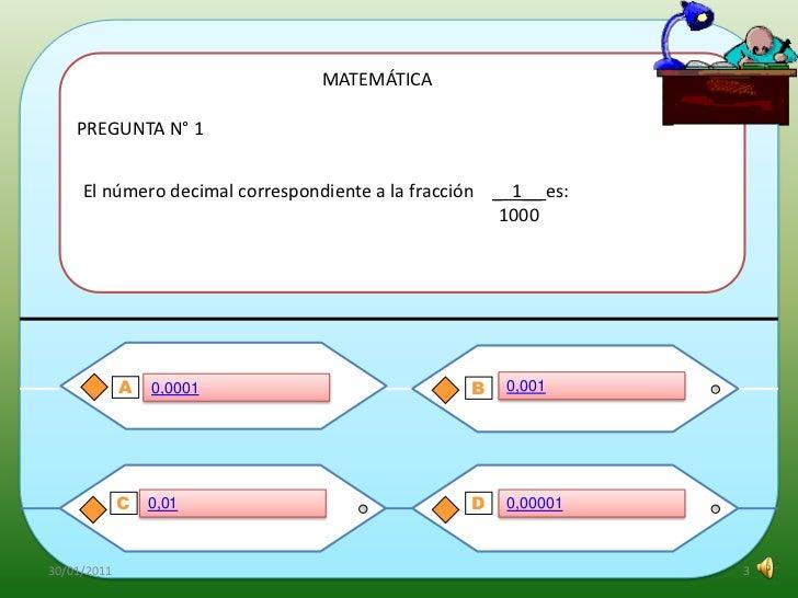 Juego Didactico De Matematica Para Alumnos De Sexto Grado