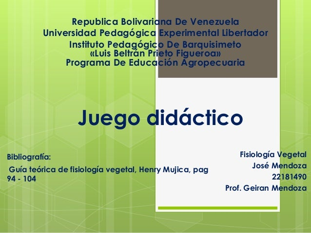 Republica Bolivariana De Venezuela          Universidad Pedagógica Experimental Libertador                Instituto Pedagó...