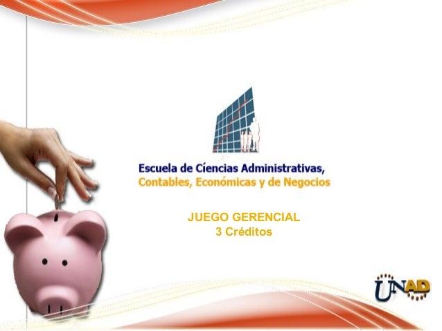 JUEGO GERENCIAL3 Créditos
