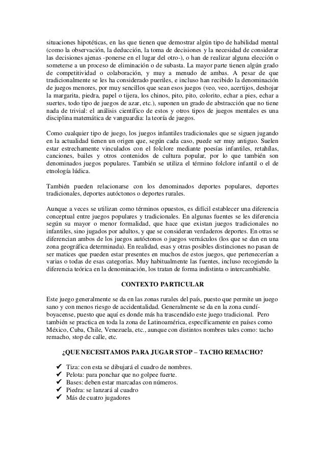 Juego Infantil Stop Tacho Remacho