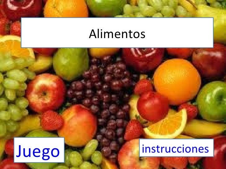 AlimentosJuego           instrucciones