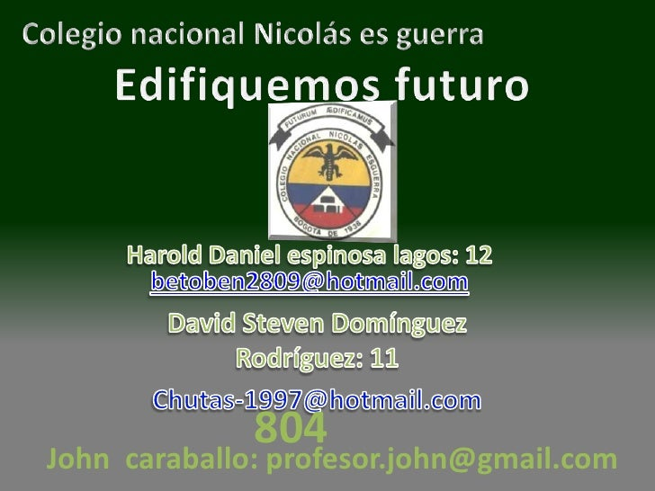 804John caraballo: profesor.john@gmail.com