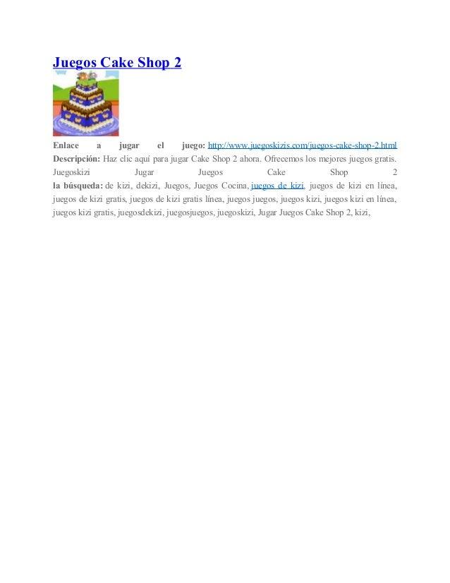 Juegos Cake Shop 2