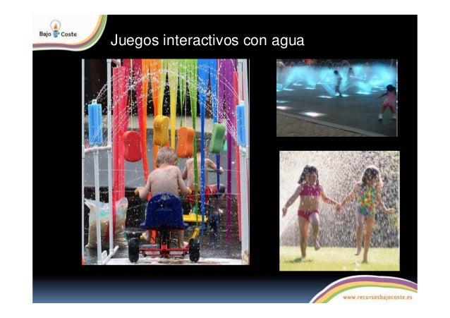 Juegos interactivos con agua