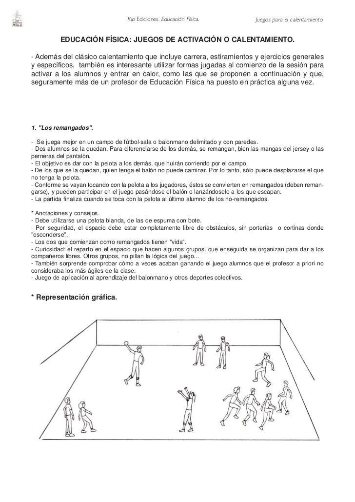 Kip Ediciones. Educación Física.                Juegos para el calentamiento             EDUCACIÓN FÍSICA: JUEGOS DE ACTIV...