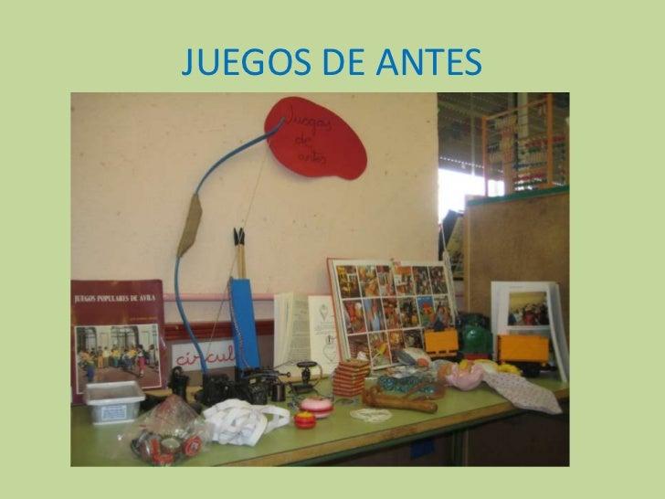 JUEGOS DE ANTES