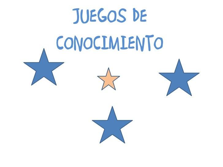 JUEGOS DE CONOCIMIENTO