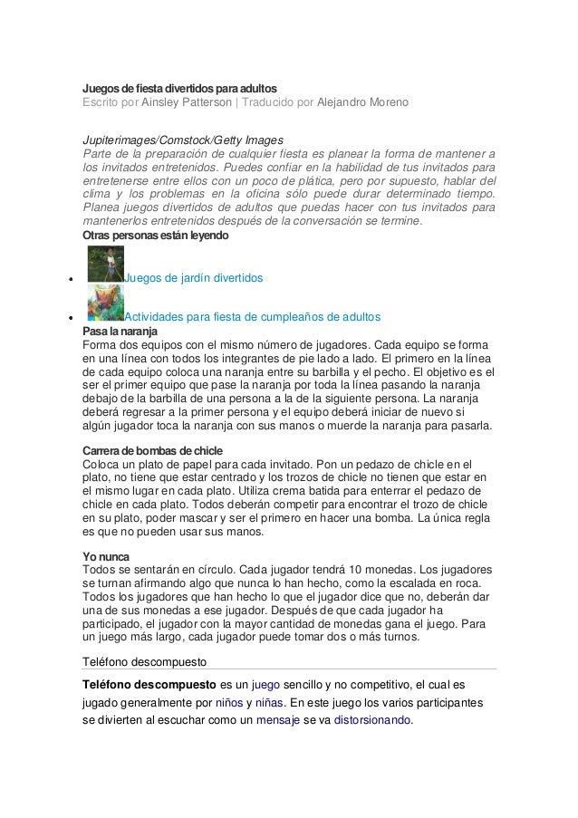 juegos de fiesta divertidos para adultos escrito por ainsley patterson traducido por alejandro moreno
