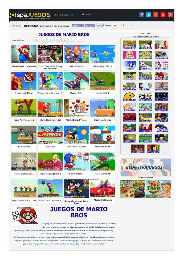 Juegos Gratis Juegos Gratis De Mario Bros Gratis