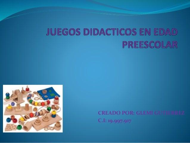 CREADO POR: GLEMI GUTIERREZ C.I: 19.997.917