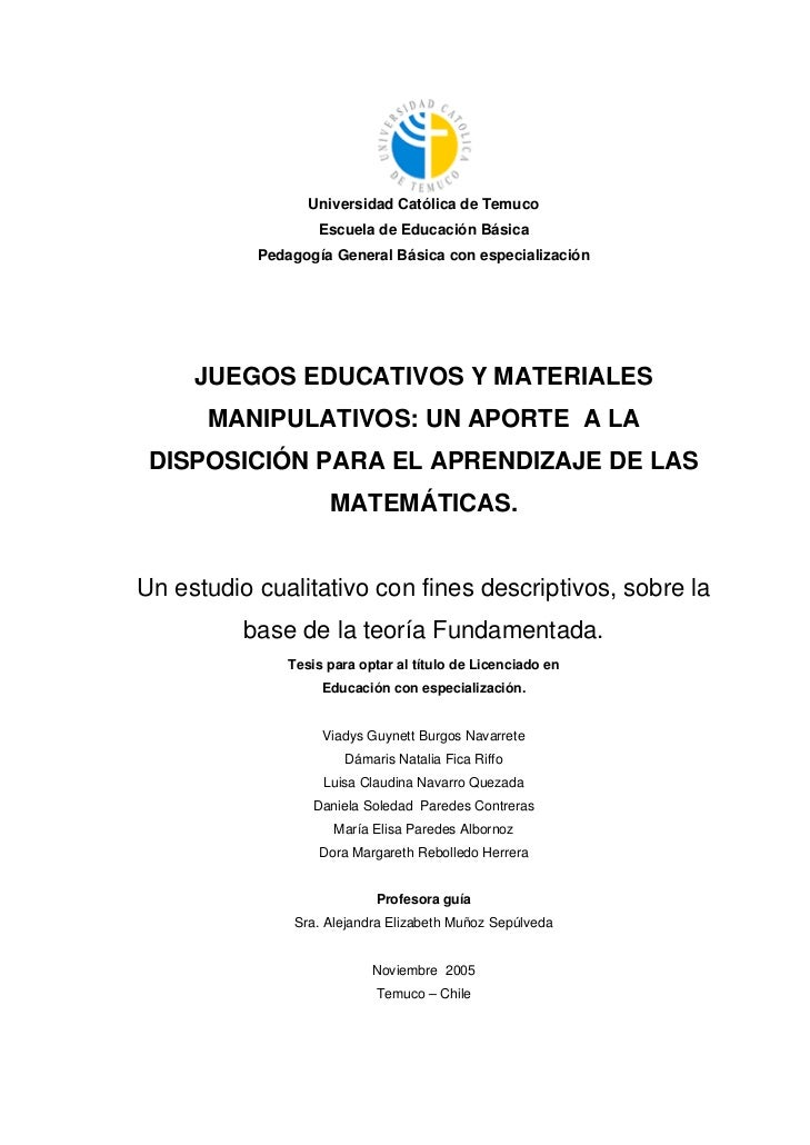 Universidad Católica de Temuco                   Escuela de Educación Básica           Pedagogía General Básica con especi...