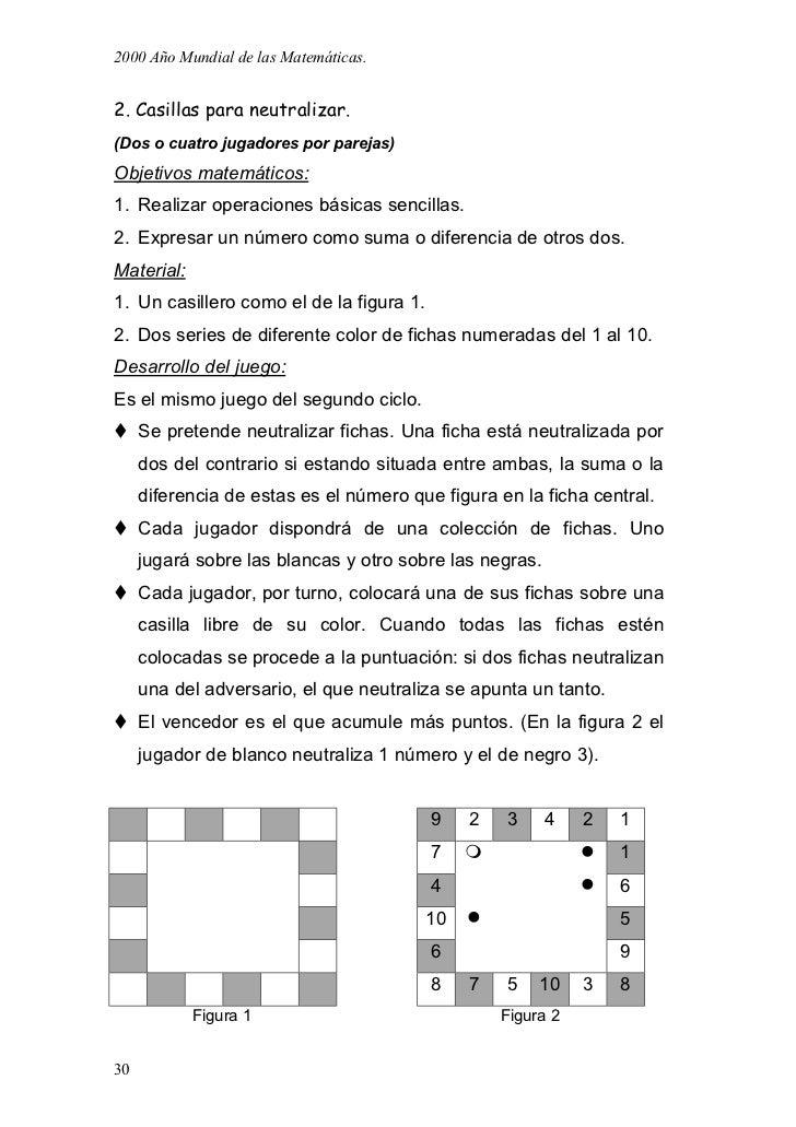 Juegos matematicos para primaria y secundaria