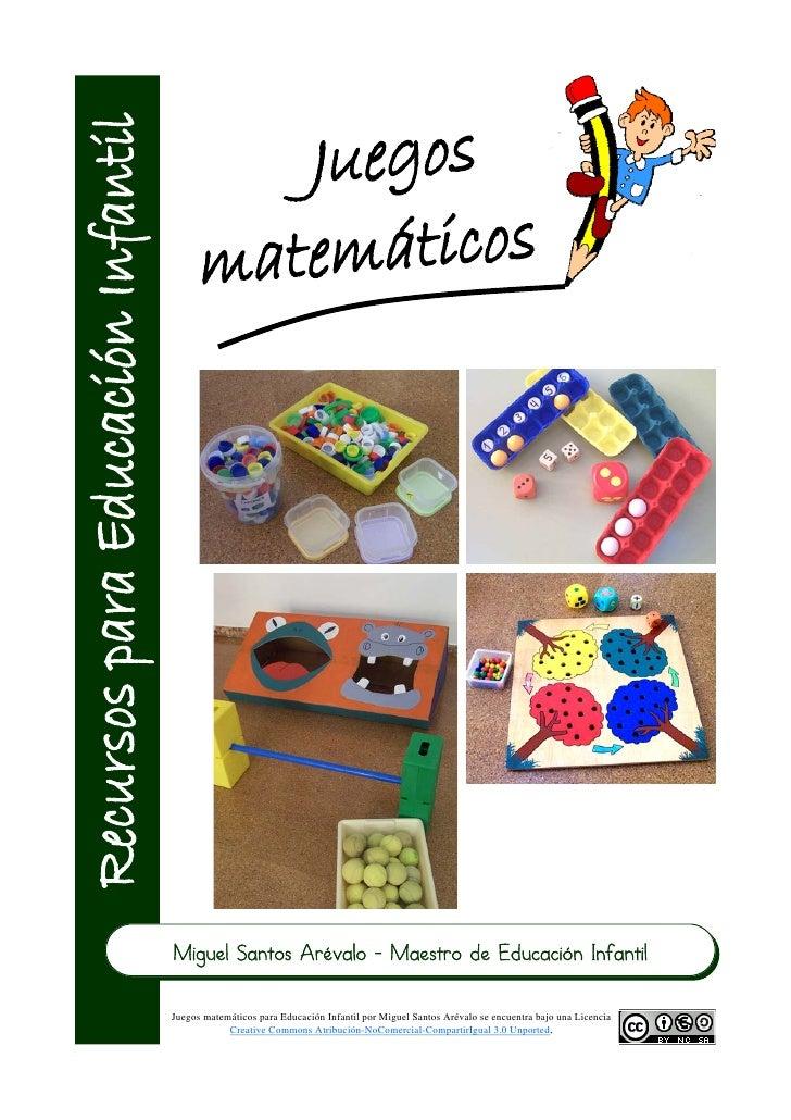 Miguel Santos Arévalo - Maestro de Educación InfantilJuegos matemáticos para Educación Infantil por Miguel Santos Arévalo ...