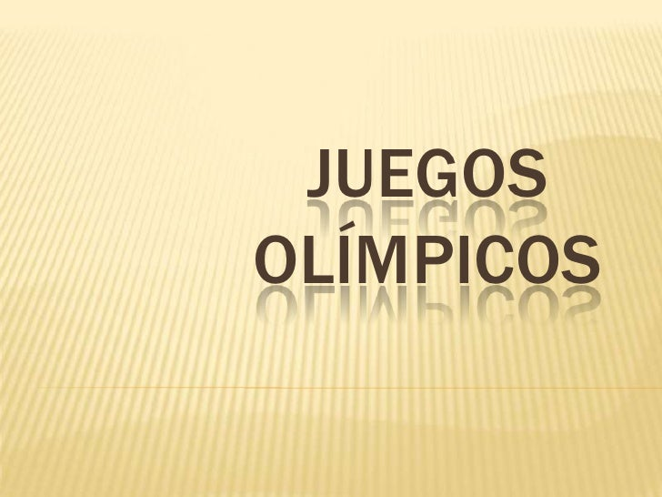 JUEGOS OLíMPICOS<br />