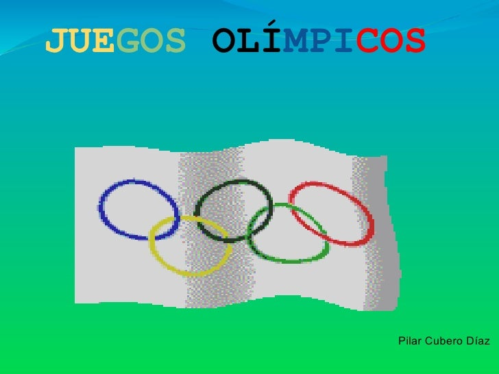 JUEGOS OLÍMPICOS              Pilar Cubero Díaz